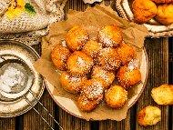 Пържени испански бухтички с вода и брашно с шприц (без мляко и яйца)